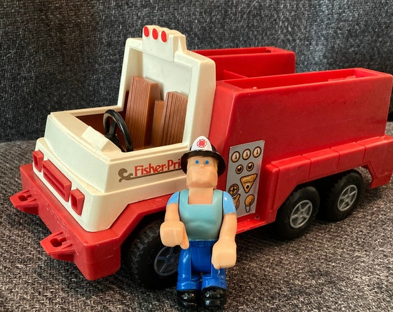 Rare 1983 Fisher Price Fire Truck with Fireman