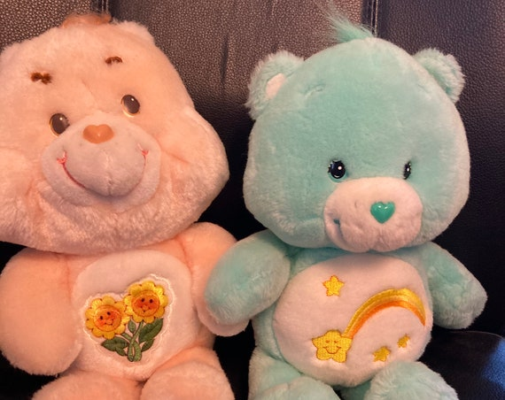 """Buy Our Vintage Care Bear Plush 13"""" Friend Bear from 1983 and Receive a Talking Wish Bear FREE"""