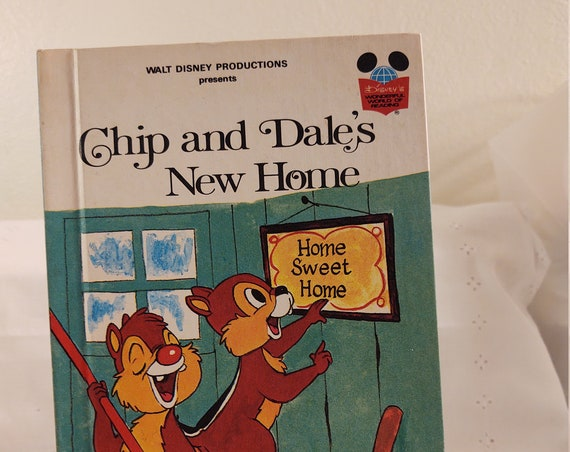 1978 Chip And Dale's New Home Hard Cover Story Book