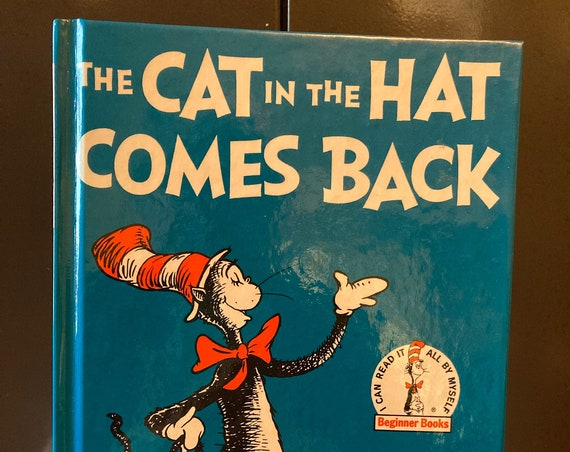 Dr Suess - The Cat in the Hat Comes Back - Vintage 1986 Beginner Book by Dr Suess - FREE MEDIA SHIPPING