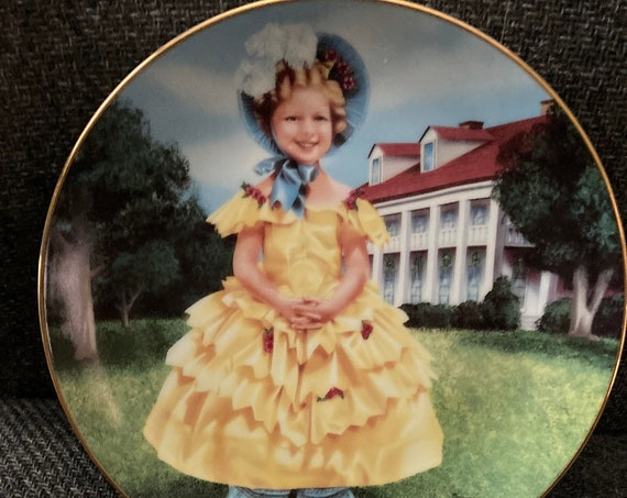 Shirley Temple Plate Created by the Danbury Mint