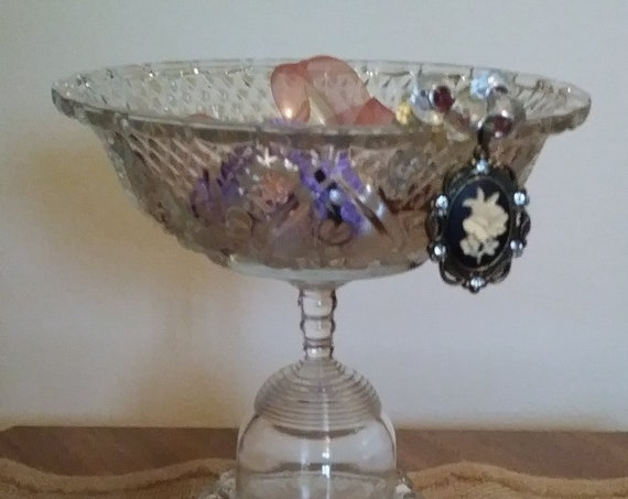 Glass Jewelry Dish