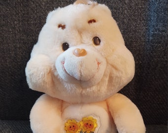 "Vintage Care Bear Plush 13"" Friend Bear from 1983"