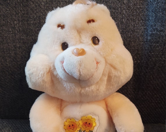 "Vintage Care Bear Plush 13"" Friend Bear from 1983"