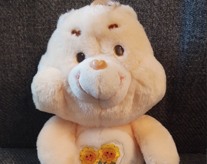 "Featured listing image: Vintage Care Bear Plush 13"" Friend Bear from 1983"