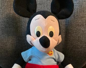 """Large 22"""" Vintage 1988 Talking Playskool Mickey Mouse Plush Doll"""