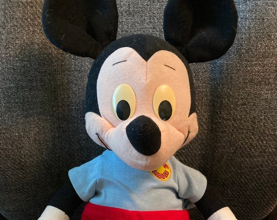 "Large 22"" Vintage 1988 Talking Playskool Mickey Mouse Plush Doll"