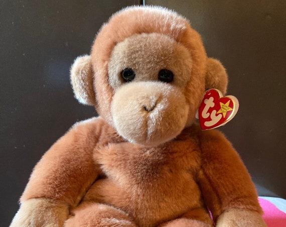"TY 14"" Bongo Beanie Baby Monkey - The Beanie Buddies Collection Bongo the Beanie Baby"