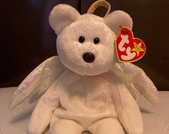 1998 TY Halo Beanie Baby Bear