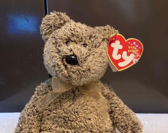 TY 2001 Harry Beanie Baby Brown Bear
