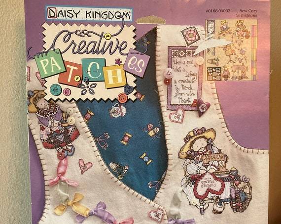 Daisy Kingdom Creative Patches 1997 No-Sew Fabric Applique