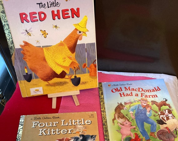 Three Classic Tales from A Little Golden Book - Four Little Kittens - The Little Red Hen - Old MacDonald Had a Farm