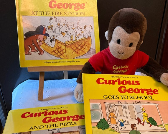 "Curious George - Three Wonderful Adventures and 11"" Curious George Himself"