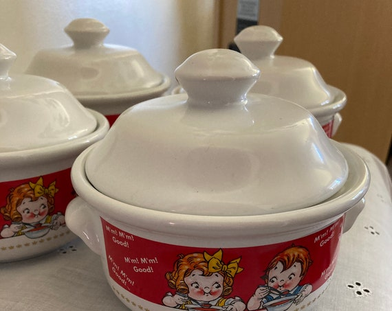 Campbell's Soup Bowl With Lid's 1998 Edition Kids Soup Bowl Dinnerware
