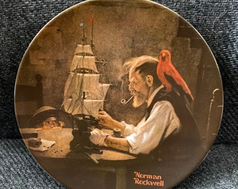 """Norman Rockwell """"The Ship Builder Plate"""""""