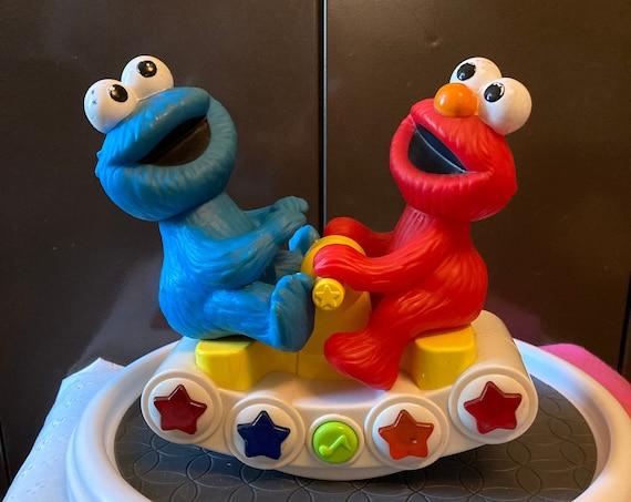 Sesame Street Elmo and Cookie Monster On Teeter Totter - Vintage Infant/Toddler Toy