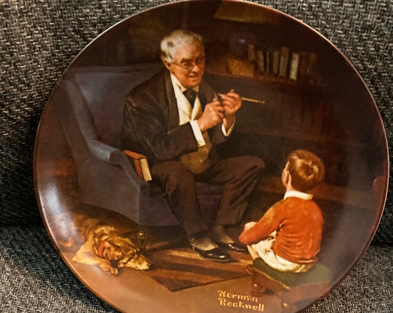 "Norman Rockwell Plate ""The Tycoon"""