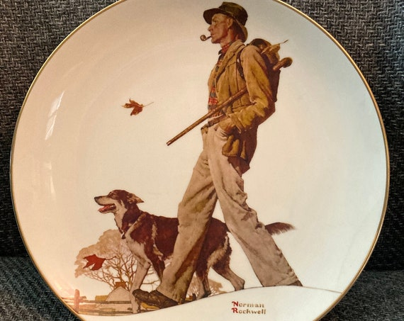"Norman Rockwell ""A Walk in the Country "" Plate 1983"