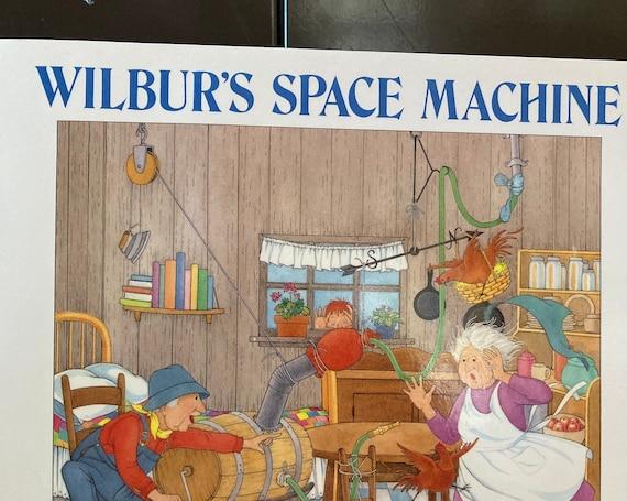 Wilbur's Space Machine by Lorna Balian - 1990 Vintage Hard Cover Book