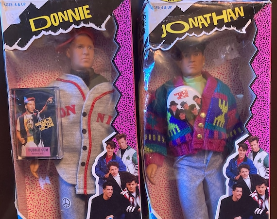 1990 Hasbro Official New Kids on the Block Fashion Figures - Haggin Loose Donnie and Jonathan