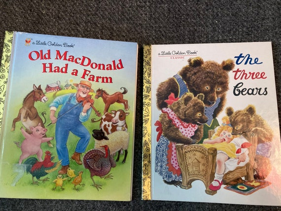 To Magical Stories Little Golden Books- The Three Bears and Old Mac Donald Had a Farm