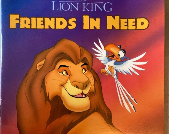 Disney's the Lion King Friends In Need - Vintage Golden Book 1994