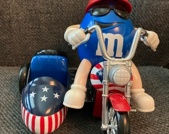 Collectable M & M Freedom Rider Motorcycle with Sidecar
