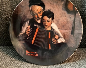 Norman Rockwell 1981 Limited Edition The Music Maker