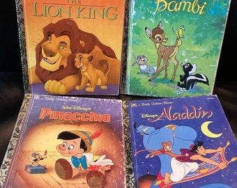 4 Classic Tales - Disney Little Golden Books - Vintage 1990's
