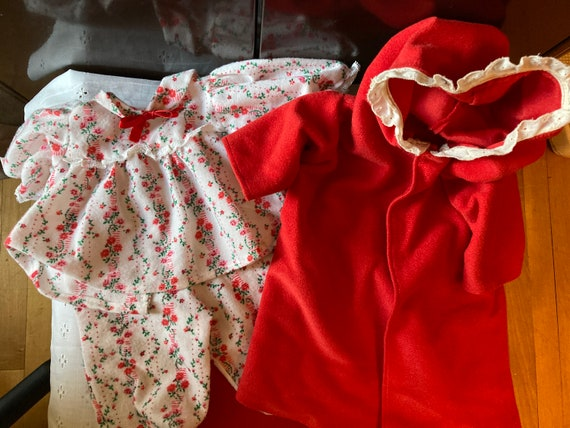 Doll Clothes - Fits a Toddler Cabbage Patch Doll - Pajama Outfit with Matching Robe