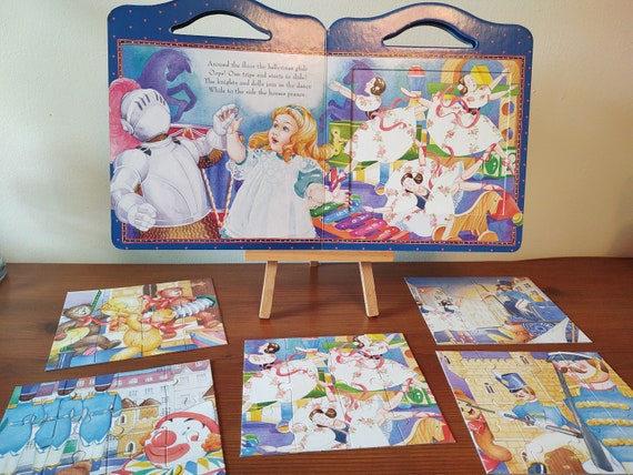 Big Face Books Edition of The Toy Story- With 5 Jigsaw Puzzles - A Read and Play Carry Puzzle Book