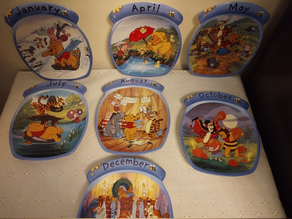 Winnie the Pooh The Whole Year Through Collection Plates - 7 Months Available