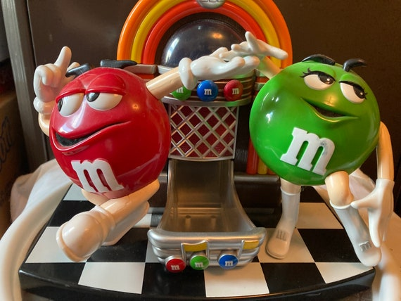 MM- Red and Green - Vintage Rock and Roll Jukebox  MM Candy Dispenser