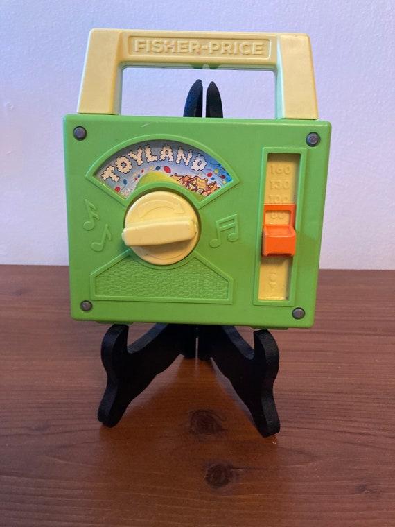 Vintage Fisher Price Disney  Wind Up Music Radio - Toyland - 1983