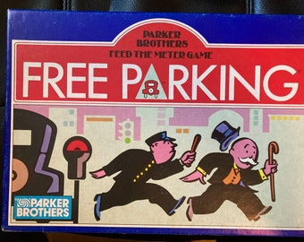Parker Brothers Feed The Meter Game Free Parking 100% Complete Vintage 1988 - Vintage Free Parking Monopoly Feed the Meter Game