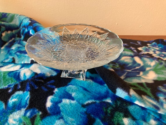 Beautiful Candle Holder with Lead-Crystal Pedestal