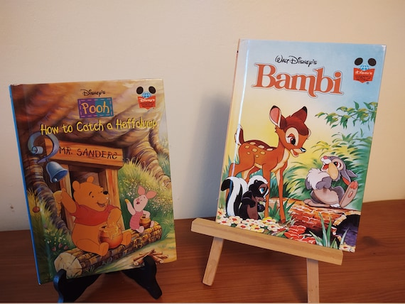 Disney's First American Edition Books - Pooh Bear in How to Cath a Heffalump (1998) and  Bambi (1996)