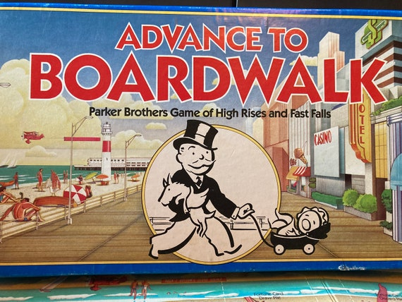 Advance to Boardwalk Parker Brothers Monopoly Board Game No. 0014 1985 - Vintage Advance To Boardwalk 1985 Parker Brothers
