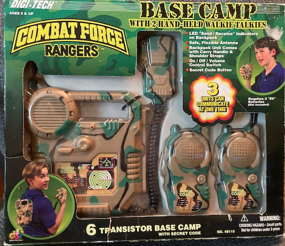Vintage 1998 Combat Force Rangers Base Camp with 2 Hand-Held Walkie Talkies