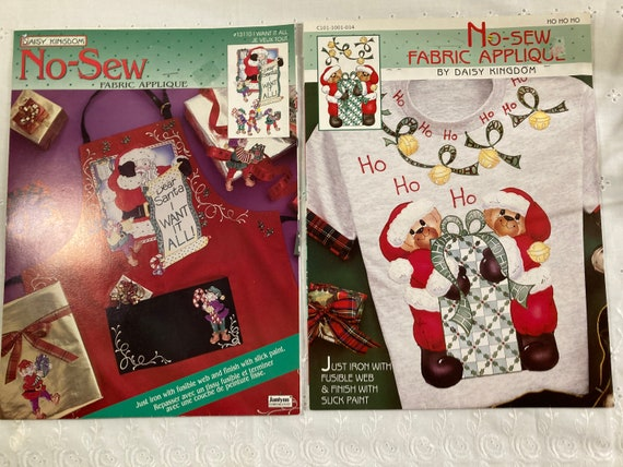 No - Sew Christmas Fabric Applique By Daisy Kingdom