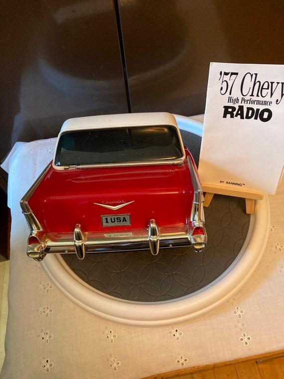 1957 Chevy Belair Wallmount AM/FM Radio Beetland / Banning - 1957 Chevrolet vintage am/fm radio 1988 beetland/banning