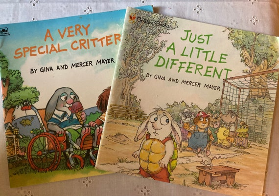 Mercer Mayer Books - A Very Special Critter (1994) and Just a Little Different (1998 First Edition)