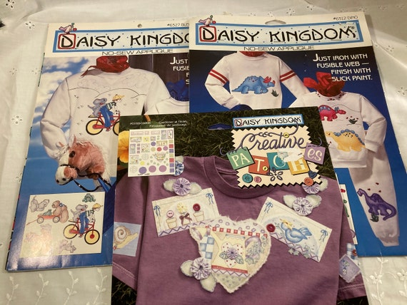 Daisy Kingdom No-Sew Applique - Busy Boys/Bear  - Dinosaurs - Creative Patch