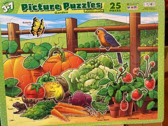 1999 Puzzle Patch Picture Garden Puzzle - 25 Piece Picture Puzzle