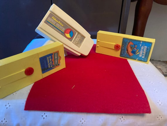 Vintage 1970's Fisher Price Movie Viewer with Two Cartridges - FREE SHIPPING