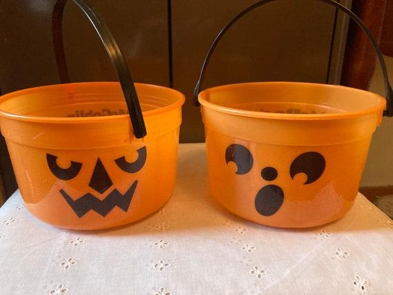 Halloween Bucket, Trick or Treat Bag,1986,McDonald's,Halloween Candy, Candy Bag, Halloween Pail, Candy Holder, Plastic Bucket, Halloween Bag