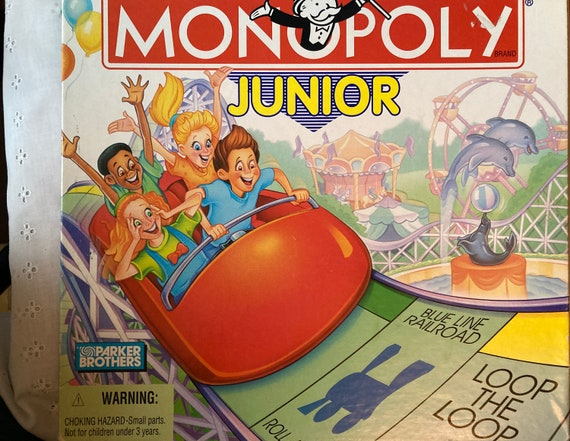 1996 PARKER BROTHERS Monopoly Junior Board Game. Designed for ages 5 to 8