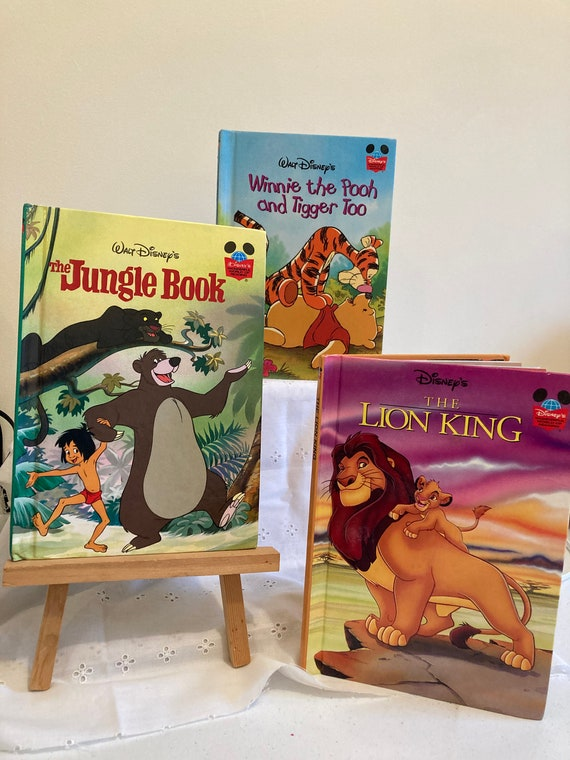 Three Disney Wounderful World of Reading Books = The Lion King - Winnie the Pooh and Tigger Too - The Jungle Book
