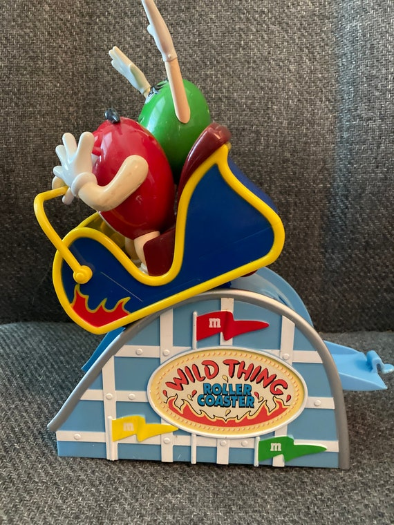 Vintage M & M Wild Thing Roller Coaster Candy Dispenser