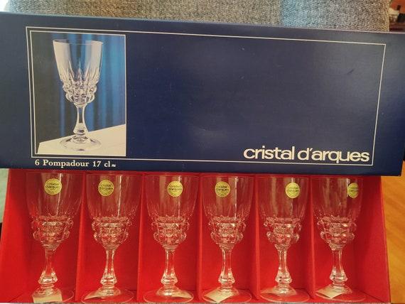 Vintage Cristal Goblets--D'Arques Durand Pompadour France